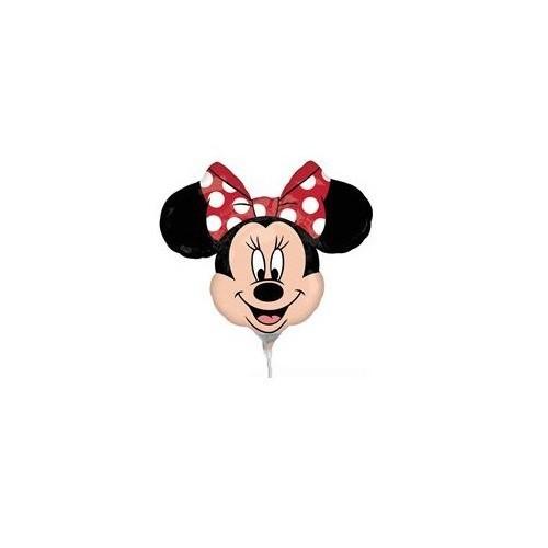 Globo Minnie Mouse Cabeza - Mini Forma 25cm Foil Poliamida - A2295602