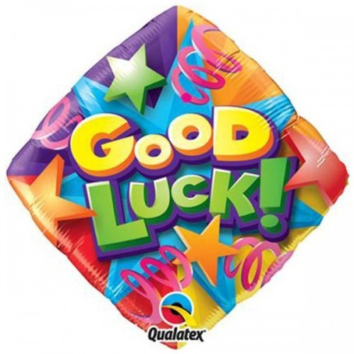 Globo Good Luck Stars And Streamers - Redondo 45cm Foil Poliamida - Q25307
