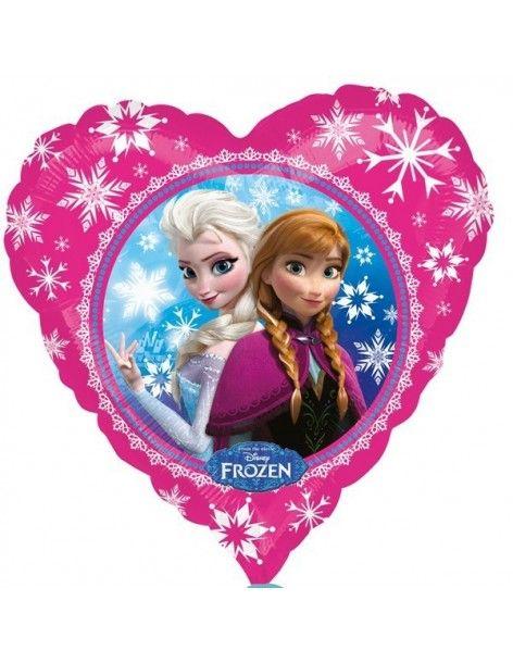 Globo Anna y Elsa Corazon 45cm Foil Poliamida 3040202