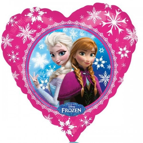 Globo Anna y Elsa - Corazon 45cm Foil Poliamida - A3040202