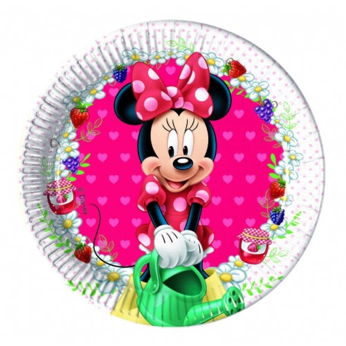 Platos Minnie Jam Packed with Love de 20cm - 8 UDS