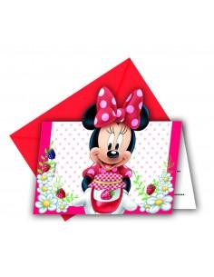 Invitaciones Minnie Jam Packed with Love con Sobre - 6 UDS