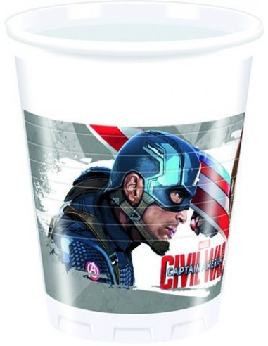 Vasos Civil War de 200ml 8 UDS