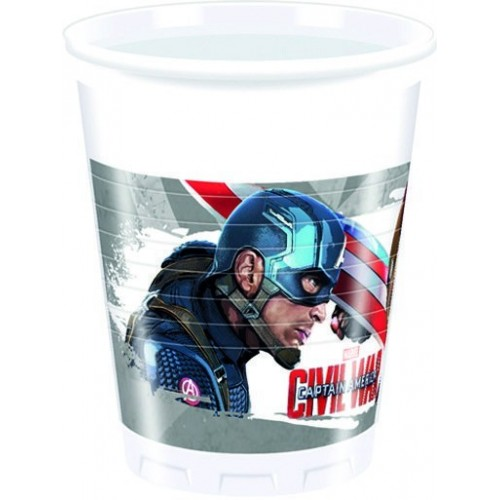 Vasos Civil War de 200ml - 8 UDS