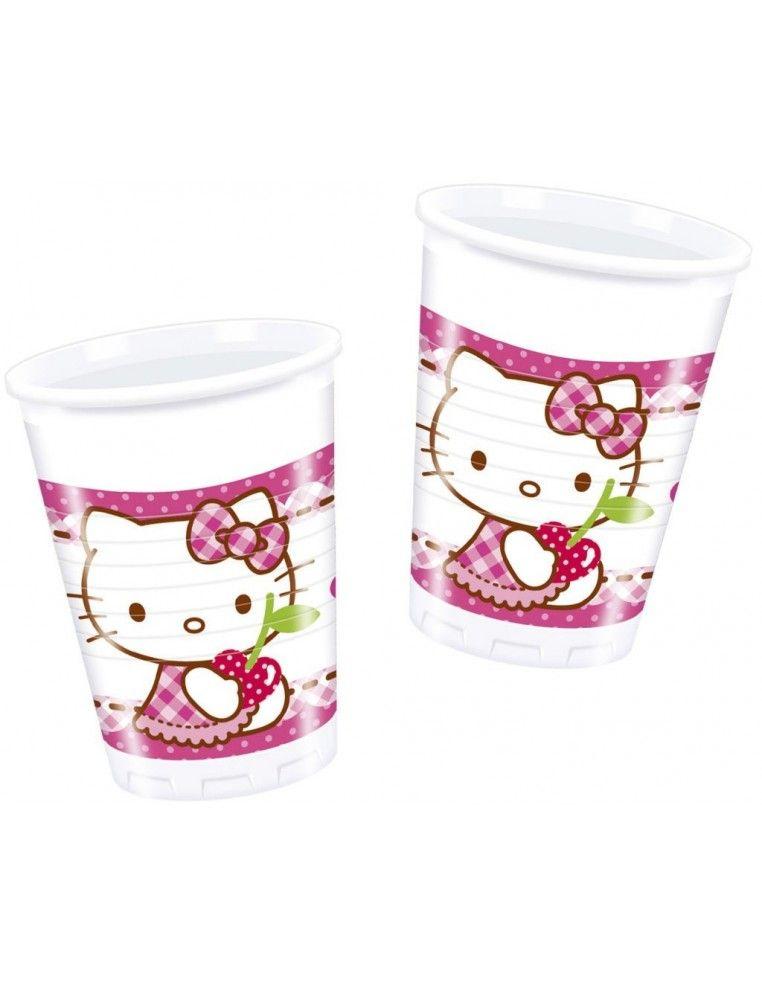 Vasos Hello Kitty Hearts de 200ml - 8 UDS