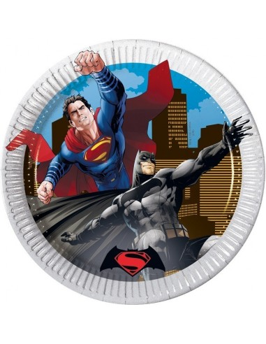 Platos Batman vs Superman de 23cm - 8 UDS