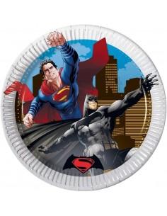Platos Batman vs Superman de 20cm - 8 UDS