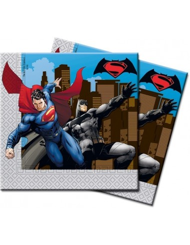Servilletas Batman vs Superman de 33x33cm - 20 UDS