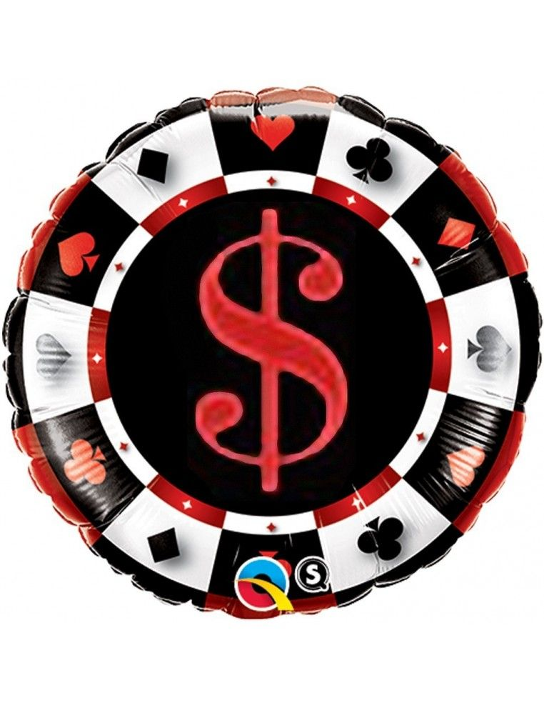 Globo Casino - Redondo 45cm Foil Poliamida - Q43389