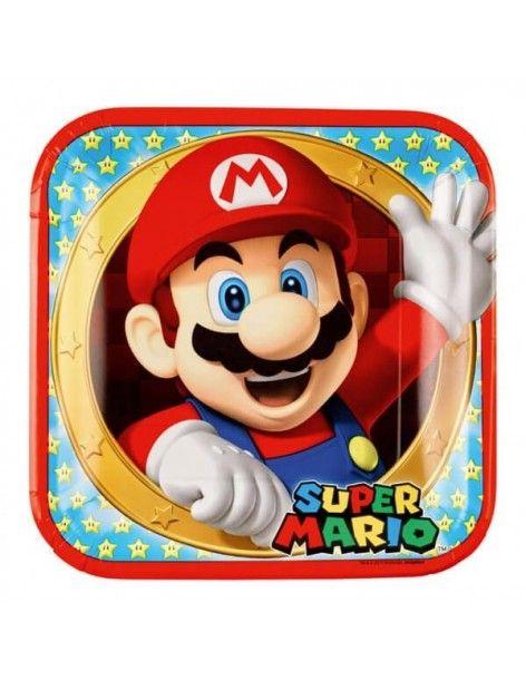 Platos Super Mario de 23cm