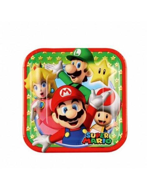 Platos Super Mario de 18cm