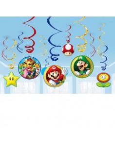 Colgantes Espiral Super Mario