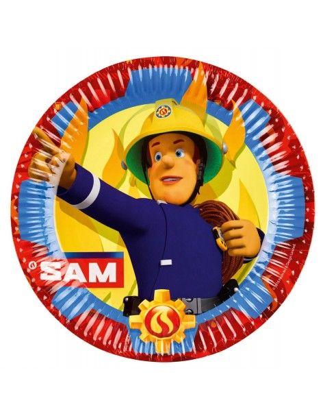 Platos Sam el Bombero de 23cm
