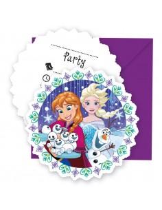 Invitaciones Frozen Snowflakes con Sobre