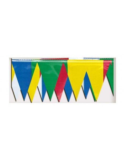 Fleco Plastico Cosido Triangulo Arcoiris