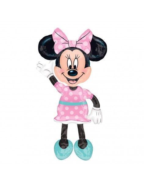 Globo Minnie Lunares Rosa Air Walker 137cm