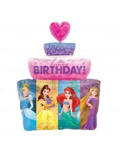 Globo Princesas Disney Tarta HBD Forma 71cm