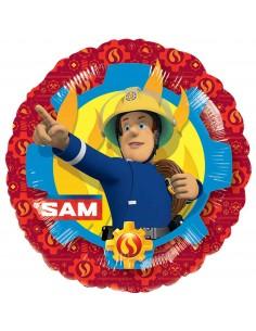 Globo Sam El Bombero Redondo 45cm