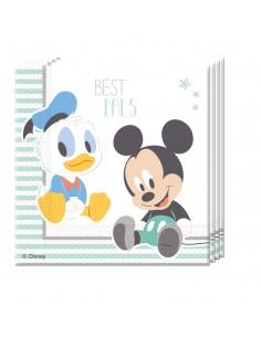Servilletas Baby Mickey 2 de 33x33cm 20 UDS