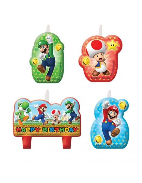 Velas Super Mario 4 UDS