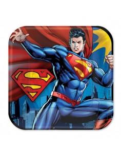 Platos Superman de 23cm 8 UDS