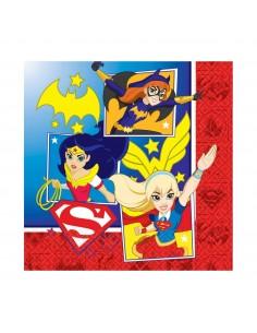 Servilletas DC Super Hero Girls de 33x33cm 16 UDS