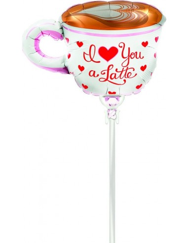 Globo Love You A Latte - Mini Forma 36cm Foil Poliamida - NSB00623