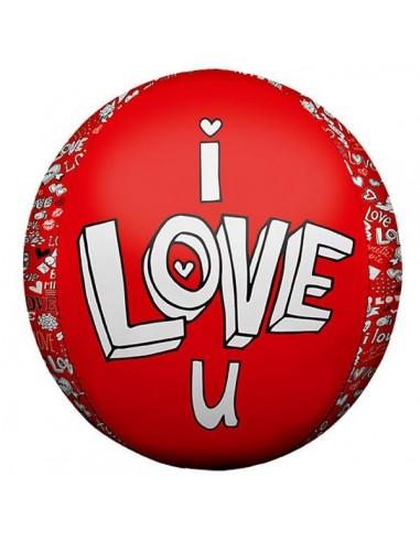 Globo I Love U Doodles - Foil Esferico 43cm - NSB01049NSB01049