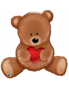 Globo Teddy Bear Love - Forma 89cm Foil Poliamida - Q16453