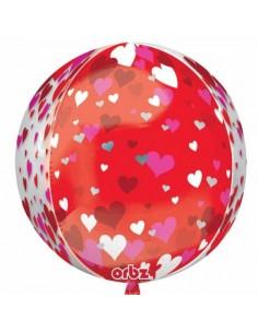 Globo Floating Hearts Esfera 40cm