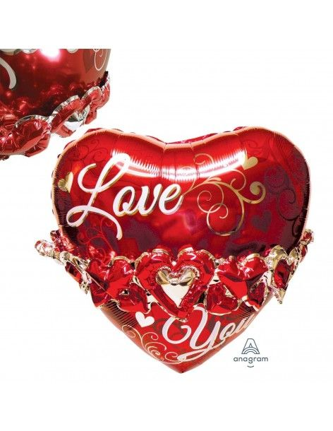 Globo Love You Heart Garland Multiballoon 58cm