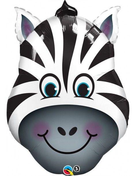 Globo Zany Zebra - Forma 80cm Foil Poliamida - Q16166