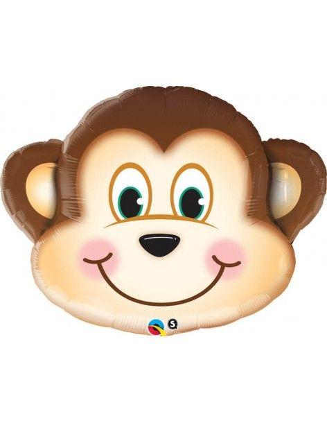 Globo Mischievous Monkey - Forma 89cm Foil Poliamida - Q16097