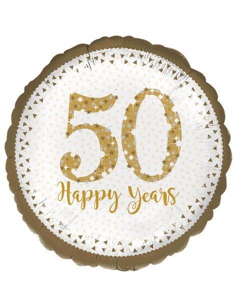Globo 50 Aniversario Holografico Redondo 45cm