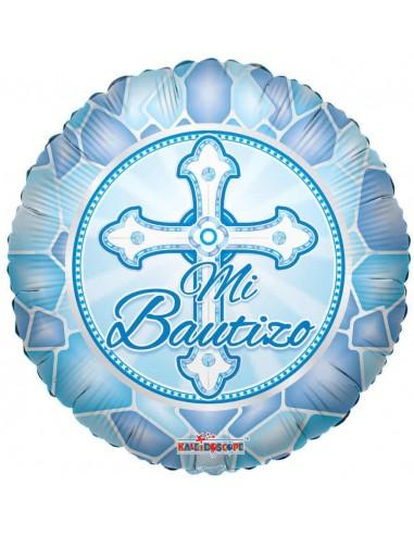 Globo Mi Bautizo Cruz Niño - Redondo 45cm Foil Poliamida - K3453018