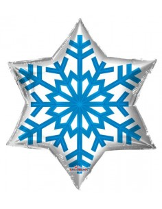 Globo Copo de Nieve - Estrella 55cm Foil Poliamida - K8905522