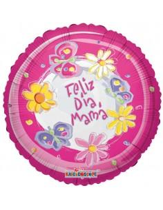 Globo Feliz Dia Mama Redondo 45cm Foil Poliamida