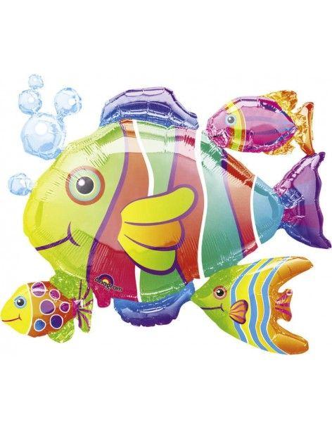 Globo Tropical Fish Cluster - Forma 61x77cm Foil Poliamida -A0764701