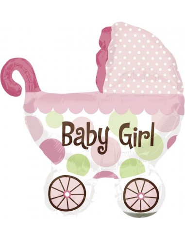 Globo Baby Buggy Girl - Forma 79x71cm Foil Poliamida -A1789601-02