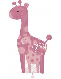 Globo Mom and Baby Pink Giraffe - Forma 107x64cm Foil Poliamida -A2518101