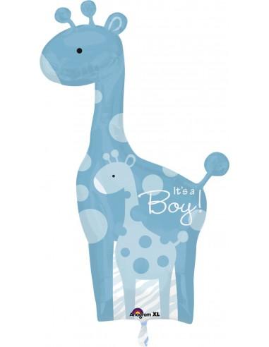 Globo Dad and Baby Blue Giraffe - Forma 107x64cm Foil Poliamida -A2458301