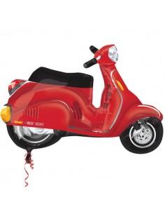 Globo Moto Scooter Roja - Forma 60cm Foil Poliamida - A2738802