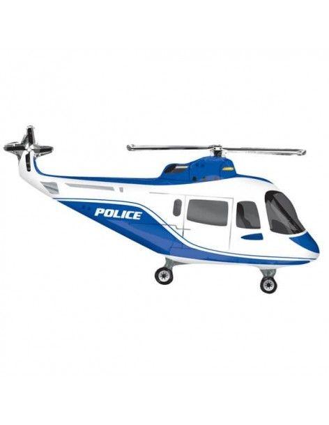 Globo Helicoptero Policia - Forma 84cm Foil Poliamida - A3044102