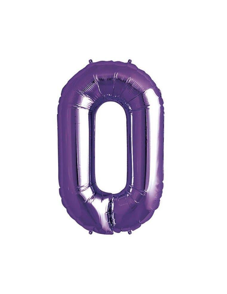 Globo Letra O de 86cm Purpura - Foil Poliamida - NSB00314