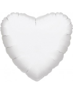 Globo Corazon 45cm Blanco - Foil Poliamida - A1059502