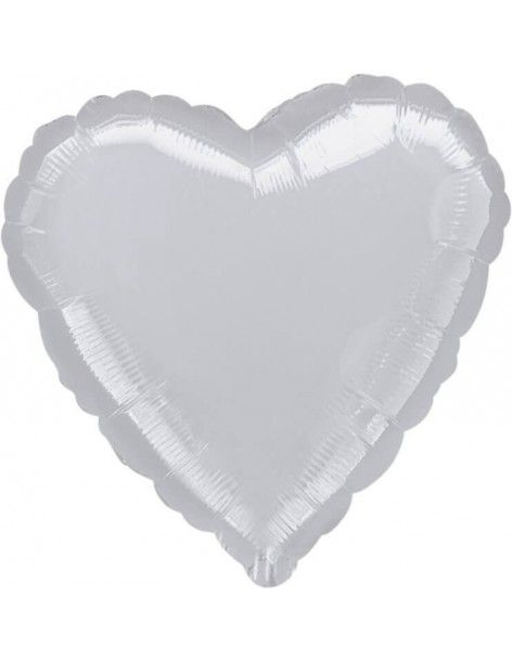 Globo Corazon 45cm Plata - Foil Poliamida - A1057602