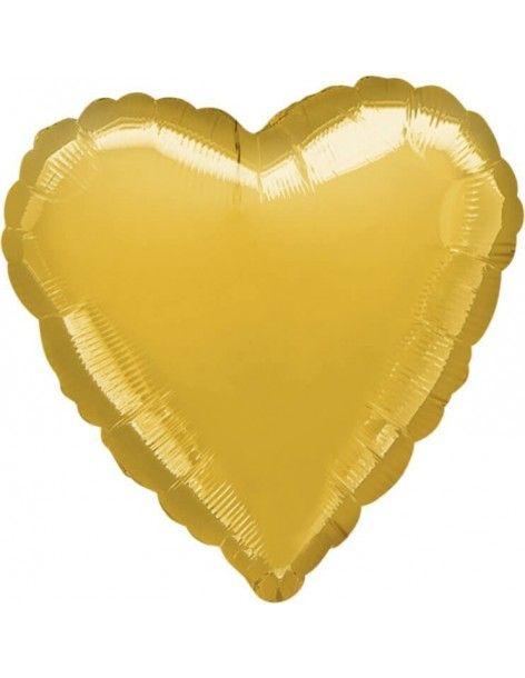 Globo Corazon 45cm Oro - Foil Poliamida - A1058502