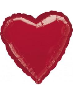 Globo Corazon 45cm Rojo - Foil Poliamida - A1058402