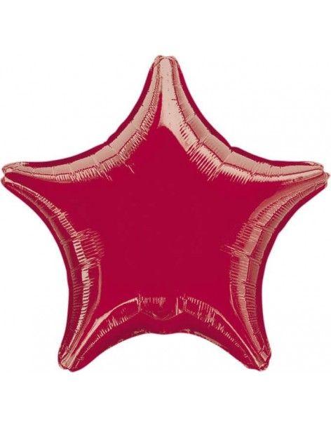 Globo Estrella 45cm Roja - Foil Poliamida - A3058402