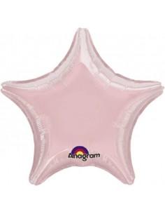 Globo Estrella 45cm Rosa Pastel - Foil Poliamida - A0690202